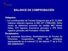 balance de comprobacion sunat declaración jurada anual del impuesto a la renta ejercicio ppt