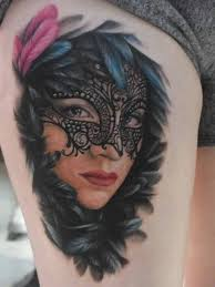 30 lovely venetian mask tattoos to celebrate carnival temporary