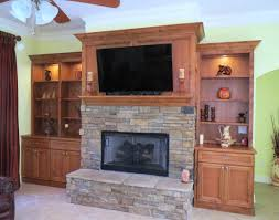 Bathroom Cabinets Jacksonville Fl by Custom Solid Wood Fireplace Mantel And Paneling With Adjacent