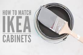 ikea kitchen cabinet colours how to match ikea cabinet color a thoughtful place