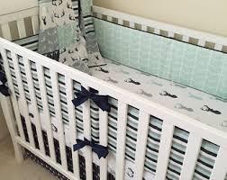 Crib Bedding Boy View Boy Crib Bedding By Maxandgrace On Etsy