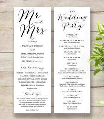 Modern Wedding Program 25 Best Wedding Programs Diy Printable Wedding Order Of Service