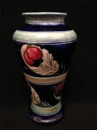 Moorcroft Clematis Vase Moorcroft Clematis Footed Vase Large Old Moorcroft Moorcroft