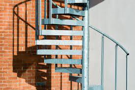 metal spiral stairs stock image image of evacuation 62600089