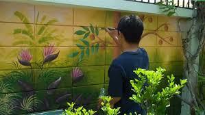 Backyard Fence Decorating Ideas Garden Ideas Outdoor Wall Decor Large 3d Wall Murals Outdoor