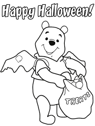 pooh toddler halloween coloring pages printable hallowen