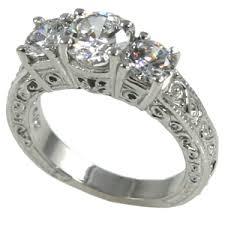 estate engagement rings platinum antique estate 3 engagement ring 2 ctw