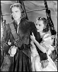errol flynn pirate and olivia de havilland in captain blood