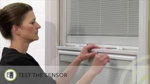 double hung window built in sensor setup pella insynctive home
