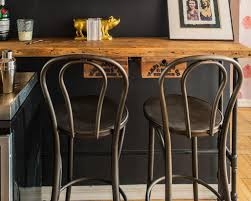 contemporary bar stools black leather industrial metal stool