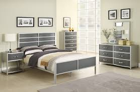 gallery coaster furniture dewey collection silver bedroom set twin bed night stand dresser