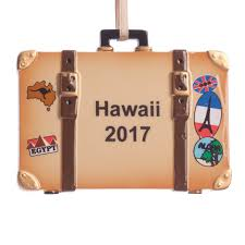personalized suitcase ornament tree ornament kimball