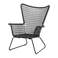 Black Patio Chair Ikea Mid Century Modern Woven Black Outdoor Lounge Armchair Ff E