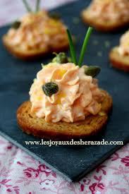 canapé apéritif facile toast apéritif crème au saumon fumé les joyaux de sherazade