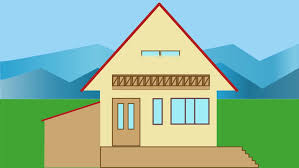 house animated house building animated house construction in countryside with