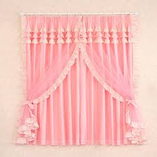 Ruffled Pink Curtains Pink Ruffle Curtains Of Princess Feeling With Lace