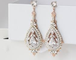 vintage wedding earrings chandeliers gold wedding earrings chandelier bridal earrings