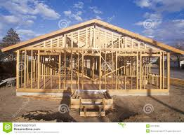 Frame House Wood Frame Of House Under Construction Royalty Free Stock Photo
