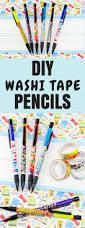 diy washi tape pencils back to craft