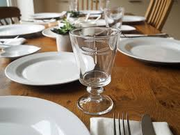 Informal Table Setting by Water Glass Table Setting Part 21 The Basic Table Setting