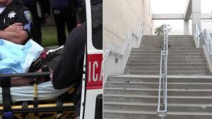 Go Down Stairs by Chase Suspect Speeds Into Csusb Campus Races Down Stairs In