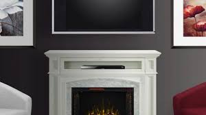 Infrared Electric Fireplace Electric Fireplaces Fireplaces The Home Depot Inside Tv Stands