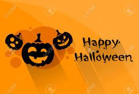 pumpkin halloween scary face character orange flat logo web banner