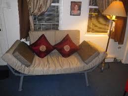 euro metal arm futon brownstone u0026amp driftwood walmart com