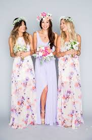 watercolor bridesmaid dresses best 25 purple floral bridesmaid dresses ideas on