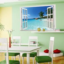 wall mural decal large removable beach sea 3d window view scenery wall mural decal large removable beach sea 3d window view scenery wall sticker decor decals