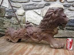 foo lion statue antique architectural cast iron garden foo dog sculpture