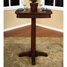 Pedestal Bar Table Taylor Wood Pub Table Square Top Pedestal Base Sierra Dcg Stores