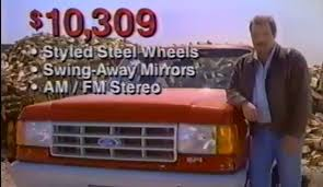 ford f150 commercial throwback 1991 ford f 150 is packed to the gills