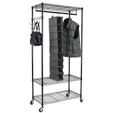 Metal Adjustable Shelving Amazon Com Oceanstar Garment Rack With Adjustable Shelves With