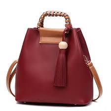 sale designer stylish pu leather handbag bucket bag shoulder