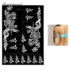 wholesale henna tattoo stencil hollow straw flower airbrush