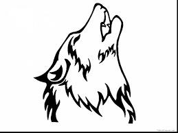 coloring pages of wolves howling coloring page