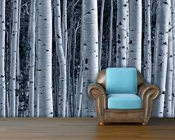 aspen forest trees mural wallpaper repositionable peel zoom