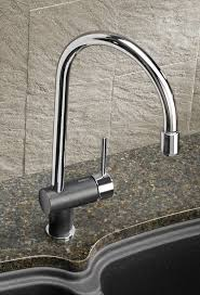 blanco rita pull down faucet in chrome anthracite finish blanco