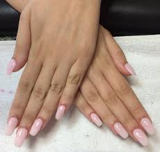 light pink coffin nails so natural looking although they are