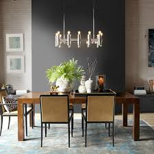 Linear Chandelier Dining Room Nash 36 Linear Chandelier Polished Nickel Williams Sonoma