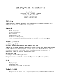 Data Entry Job Resume Samples Resume Examples For Data Entry Job Augustais