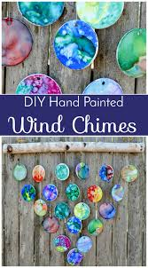 diy hand painted wind chimes 7th grade class auction project