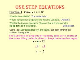 8 one step equations