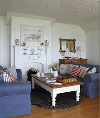 Blue Living Room Furniture Ideas Cottage Style Living Room With Denim Blue Slipcover Sofas