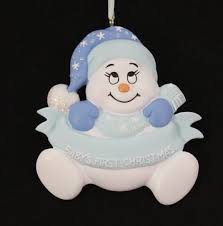 baby s baby boy snowman ornament store
