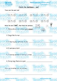 finish the sentence u0027and u0027 teach my kids