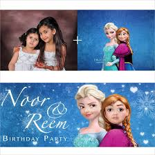 6 frozen party banners design templates free u0026 premium templates