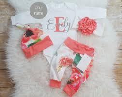 Monogram Baby Items Baby Girls U0027 Clothing Etsy
