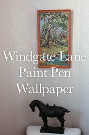 Powder Room Stencil Drawing On The Wall Powder Room Redo Windgate Lane